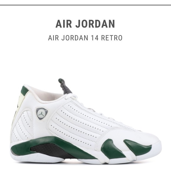 288f86bdd4b198 Jordan Other - Nike Air Jordan 14 Retro White Forest Green